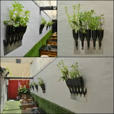 herbs planter from wine bottle u2022 recyclart