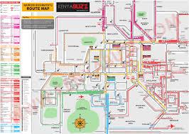 Bus Route Map Nairobi Matatu Route Map Nairobi Passengers U0027 Association Napa Blog