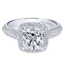 engagement rings cushion cut 14k white gold cushion cut halo engagement ring er8872w44jj