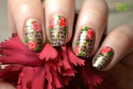 vintage rose nail art designs of girls for party trendy mods com