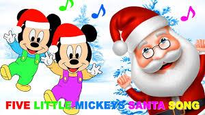 mickey mouse baby christmas santa nursery rhyme