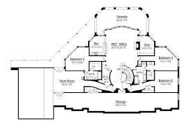 grand staircase floor plans featured house plan pbh 6009 professional builder house plans