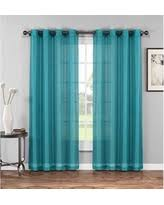 Sheer Teal Curtains Spectacular Deal On Grommet Sheer Curtains 2 Pieces Beautiful