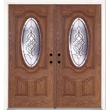 feather river doors 74 in x 81 625 in lakewood zinc 3 4 oval