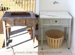 Diy Sewing Desk Sewing Table Makeover Myrtle House Elizabeth Burns Design