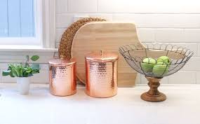 copper canisters kitchen how to accessorize your kitchen for the holidays