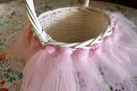 Diy Easter Basket Pottery Barn Inspired Tulle Tutu Easter Basket Diy Tutorial