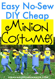 Minions Halloween Costumes Adults Easy Sew Diy Minion Costumes Harvard Homemaker