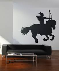 wall decals of people silhouette wall decals stickerbrand vinyl wall decal sticker native american on horse os dc139
