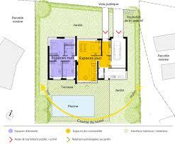 plan de maison de plain pied avec 3 chambres plan maison entree sud 6 plan maison contemporaine de plain pied