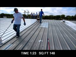 Surecoat Roof Coating by Profile Roller With Metal Roof Coating Demo Youtube