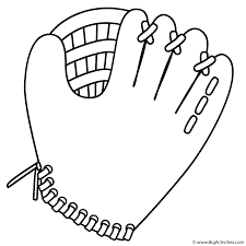 coloring pages baseball gloves coloring