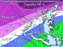 Snow Map Thunder Sleet Dcstorms Com