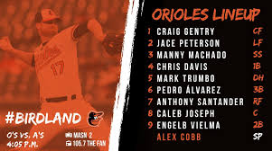 105 7 the fan baltimore baltimore orioles on twitter acobb53 on the hill to face the a s