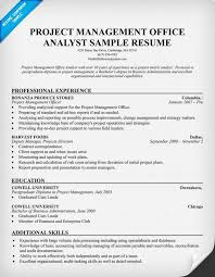 pmo analyst resume resumecompanion com resume samples across