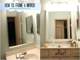 mirrors ideas for framing a large bathroom mirror framing a full size of mirrors ideas for framing a large bathroom mirror framing a bathroom mirror
