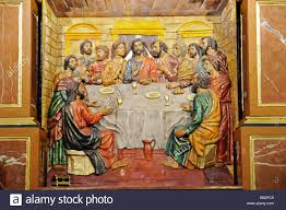 the last supper biblical representation of jesus and the apostles stock photo the last supper biblical representation of jesus and the apostles church of saint nicolas cuenca new castile la mancha