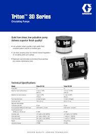 triton 3d graco pdf catalogue technical documentation brochure