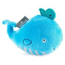 mini blue whale plush rattle baby essentials hallmark