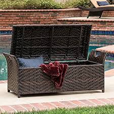 Storage For Patio Cushions Amazon Com Patio Box Storage Deck Outdoor Garden Bench Pool
