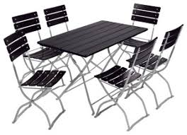 Outdoor Furniture High Table And Chairs by Beer Garden Bistro Set Table 6chairs Cs Black2 300x217 Jpg