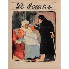 The Dinner Party Painting Jules Grun - 129 99 original vintage french poster for