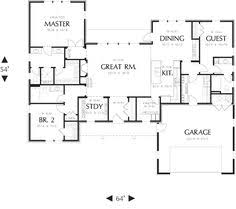 1900 sq ft house plans ranch style house plan 4 beds 2 baths 1751 sq ft plan 45 119