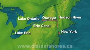 map of the erie canal erie canal sailing
