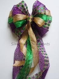 mardi gras christmas bow mardi gras christmas wreath bow