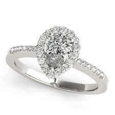 Pear Shaped Wedding Ring by Shaped Halo Engagement Ring