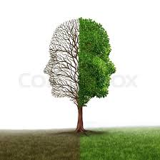 human emotion and mood disorder as a tree shaped as two human