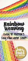 rainbow weaving easy st patrick u0027s day craft for kids