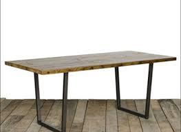 rustic metal and wood dining table metal and wood dining room table createfullcircle com