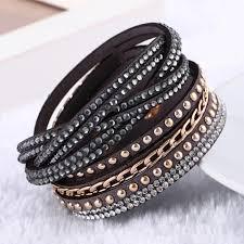 leather bracelet fashion images 2017 new fashion leather bracelet punk style uptodeals jpg