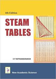 Saturated Steam Tables by Steam Tables C P Kothandaraman 9781781830246 Amazon Com Books