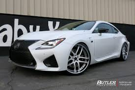 rcf lexus white lexus rcf with 22in savini bs2 wheels exclusively from butler