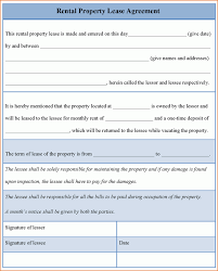 7 rental lease agreement template word printable receipt