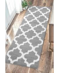Aqua Runner Rug On Sale Now 15 Nuloom Geometric Trellis Grey