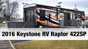 2016 keystone rv raptor 422sp toy hauler fifth wheel youtube