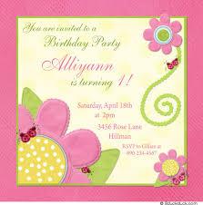 ladybug flowers birthday invitation sweet photos