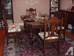1930s 40s dining room table chairs and sideboard buffet for sale