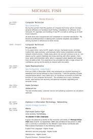 pc technician resume sample 13 computer technician resume samples