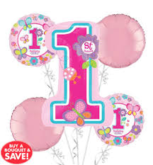 helium balloon delivery in selangor 1st birthday balloon bouquet 5pc sweet girl from category