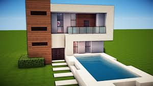 Modern Day Houses by Minecraft Simple U0026 Easy Modern House Tutorial How To Build 19