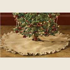 burlap tree skirt burlap ruffled tree skirt 24 piper classics
