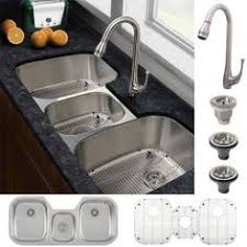 kitchen sink and faucet combo stainless three bowl sink kitchen sinks kitchen