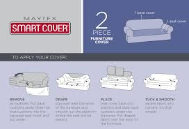 How To Make A Slipcover For A Couch Amazon Com Maytex Reeves Stretch 2 Piece Sofa Slipcover Natural