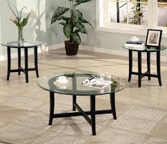 coaster occasional table sets 3 piece contemporary round coffee