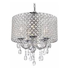 Drum Shade Chandelier Lighting Crystal Chrome Chandelier Pendant Light With Crystal Beaded Drum