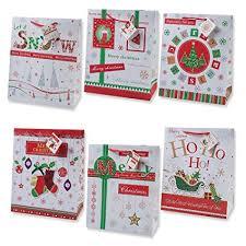 large christmas gift bags 12 christmas gift bags large bulk assortment with